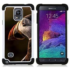 """Samsung Galaxy Note 4 IV / SM-N910 - 3 en 1 impreso colorido de Altas Prestaciones PC Funda chaqueta Negro cubierta gel silicona suave (Pájaro Sunset Ornitología Naturaleza linda"""")"""