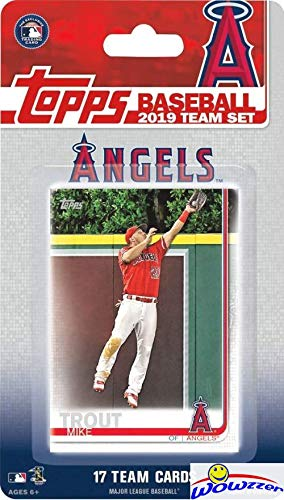 (Los Angeles Angels 2019 Topps Baseball EXCLUSIVE Special Limited Edition 17 Card Complete Team Set with Mike Trout, Shohei Ohtani & Many More Stars & Rookies! Shipped in Bubble Mailer! WOWZZER!)