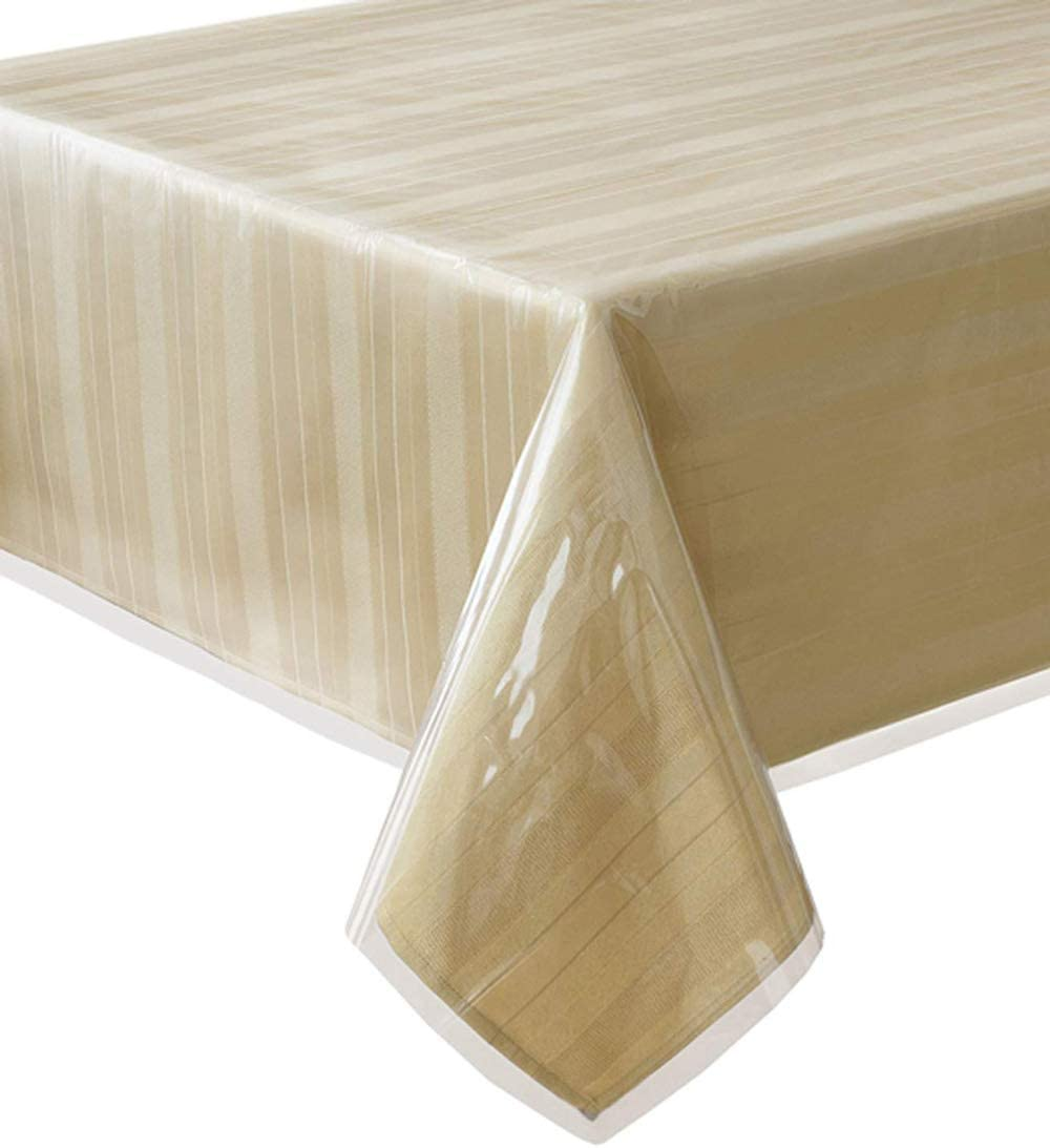 """Everyday Luxuries by Newbridge Elrene Home Fashions Clear Table Protector 70"""" X 144"""" Oblong"""