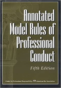 Book Annotated Model Rules of Professional Conduct by American Bar Association (2004-03-09)