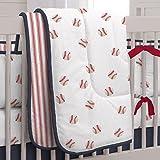Carousel Designs Red and Navy Baseball Crib Comforter