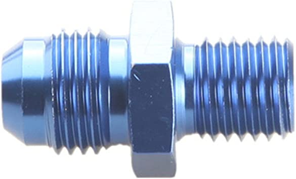 Male 6AN AN-6 AN6 Flare To M10x1.25 Metric Straight Fitting Blue