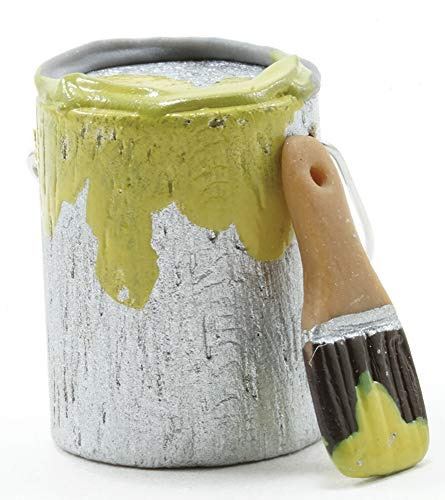 International Miniatures by Classics Dollhouse Miniature Paint Can and Brush Set, Yellow Paint (Best Paint For Dollhouse)