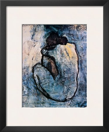 Blue Nude, c.1902 Framed Art Poster Print by Pablo Picasso, 18x22