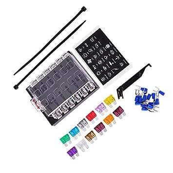 MagiDeal 25x Auto Micro2 Blatt Sicherung 5A 7.5A 10A 15A 20A mit 1x Sicherungshalter