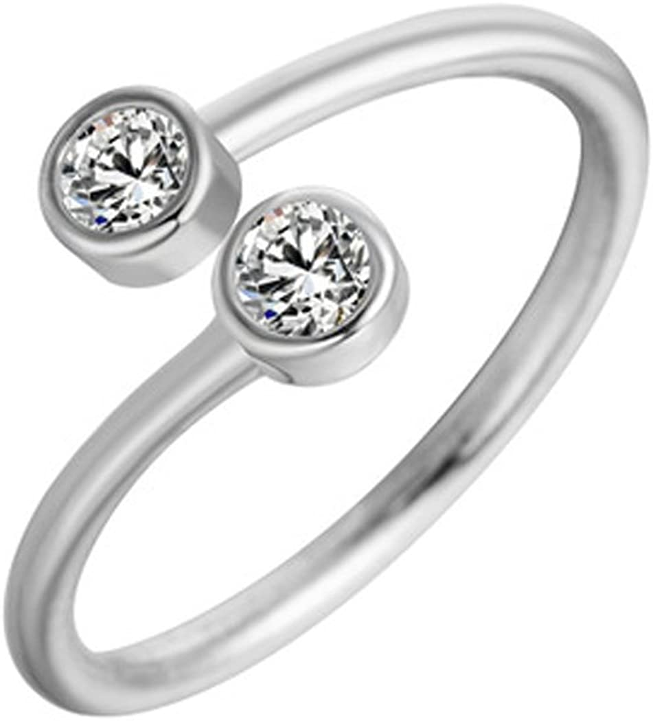 CHICY Simplify CZ Finger Toe Rings Open Adjustable Wedding Stackable Band Rings Fashion Jewelry