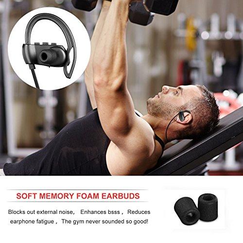 yobola mejor larga espera inalámbrico en oído deportes Bluetooth auriculares auriculares a prueba de sudor para correr cancelación de ruido auriculares con ...
