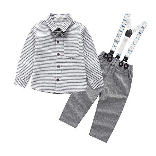 Baby Boy Dress Up Clothes (Oedi 2Pcs Infant Toddler Baby Boys Grid Print Tops+Pants Outfits Clothes Set (12M))