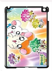 Case Cover Design Hamtaro Cartoon HM02 for Ipad mini 1/Ipad mini 2 Border Rubber Hard Plastic Case Black@pattayamart