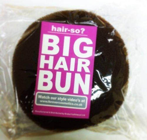 Hair-so? Massive 6 Inches Wide Big Hair Bun Extra Large Hair Doughnut Donut Bridal Wedding Hollywood Hair Style Bun Ring - Choose Colour- Brown, Black or Blonde (Brown) by hair-so?