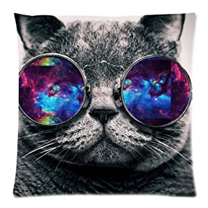 Amazon Com Galaxy Hipster Cat Funny Cat Wear Color