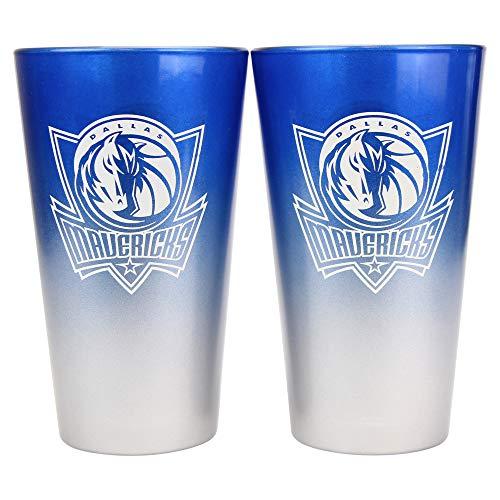 NBA 16 oz. 2-Tone Pint Glass Set (Dallas Mavericks) (Maverick Glass)