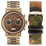 Original Grain The Military Collection Brown Dial Stainless Steel Men's Watch OGCHMILGLD