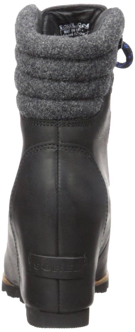 SOREL Women's Conquest Wedge Mid Calf Boot, Black, 11 M US by SOREL (Image #2)