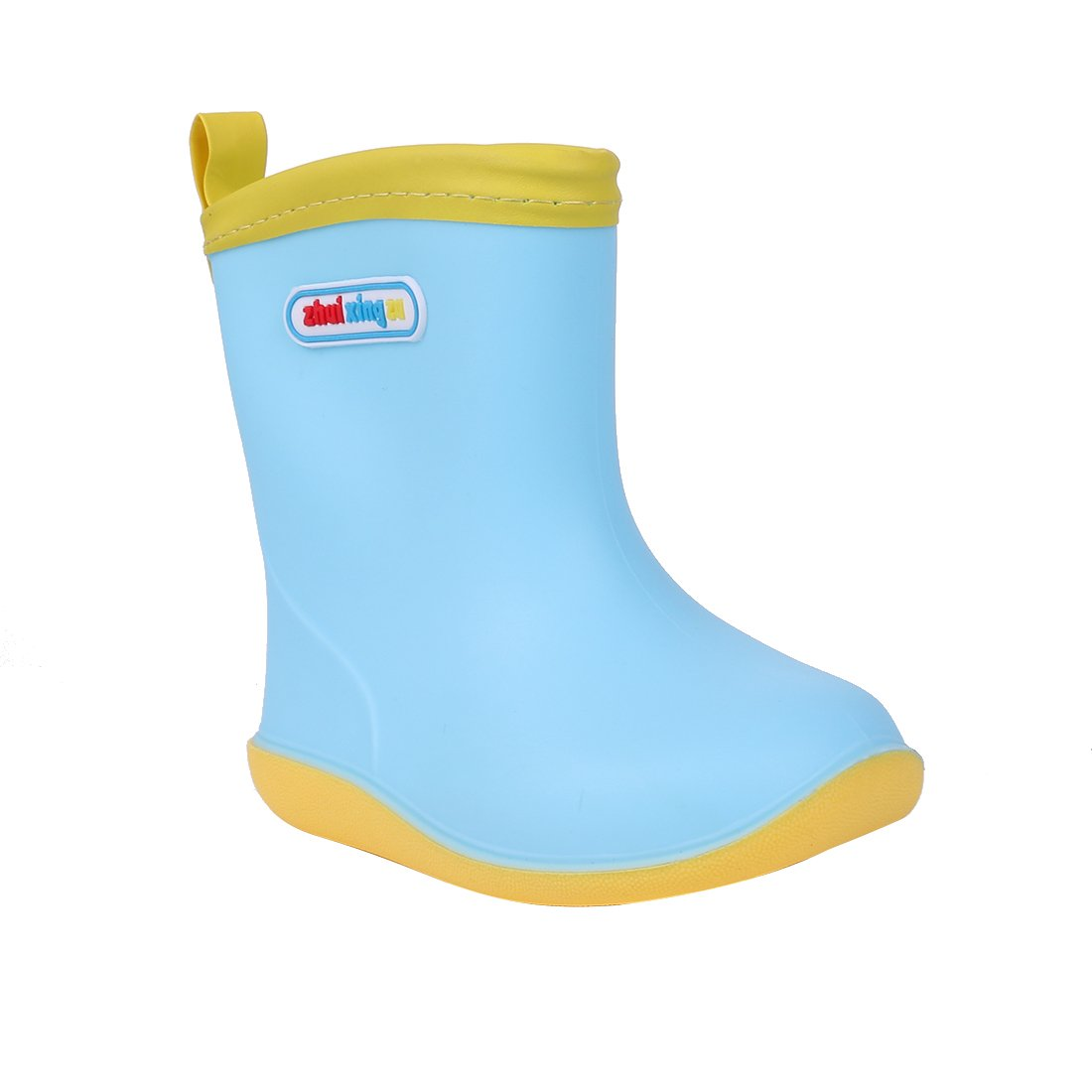 Asgard Cute Rain Boots for Kids Waterproof Candy Color Ankel Rubber Boots, with Warm Cosy Soft Socks B16 by Asgard (Image #4)
