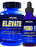 #1 Muscle Building Agent 60 Caps- Plus Free Bottle of Liquid PRIMO1100 Anabolic Growth Recovery Testosterone Booster Formula