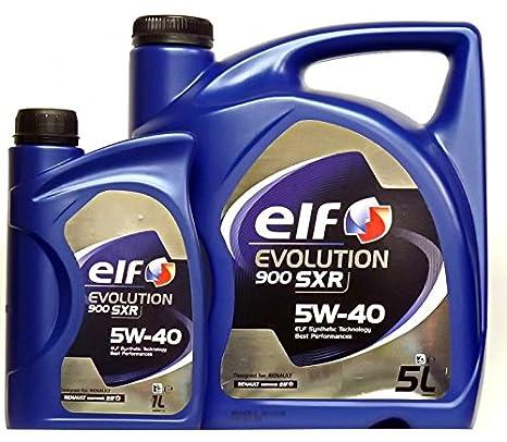 Aceite Motor Elf Evolution 900 SXR 5W40 - 6 litros (1x5 L + ...