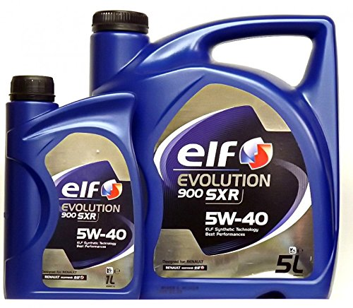 Aceite Motor Elf Evolution 900 SXR 5W40 - 6 litros (1x5 L + 1x1 L) -- Oferta Multiproducto: Amazon.es: Coche y moto