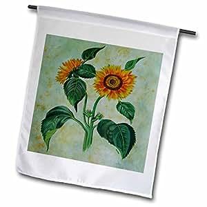 Taiche - Acrylic Painting - Sunflowers - Sunflowers - sunflower, tournesols, still life, helianthus annuus, flowers, flower, petals - 12 x 18 inch Garden Flag (fl_46883_1)