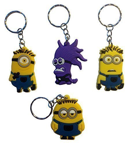 Despicable Me Keychains 4 Pcs Set #1 (Despicable Me Shoes)