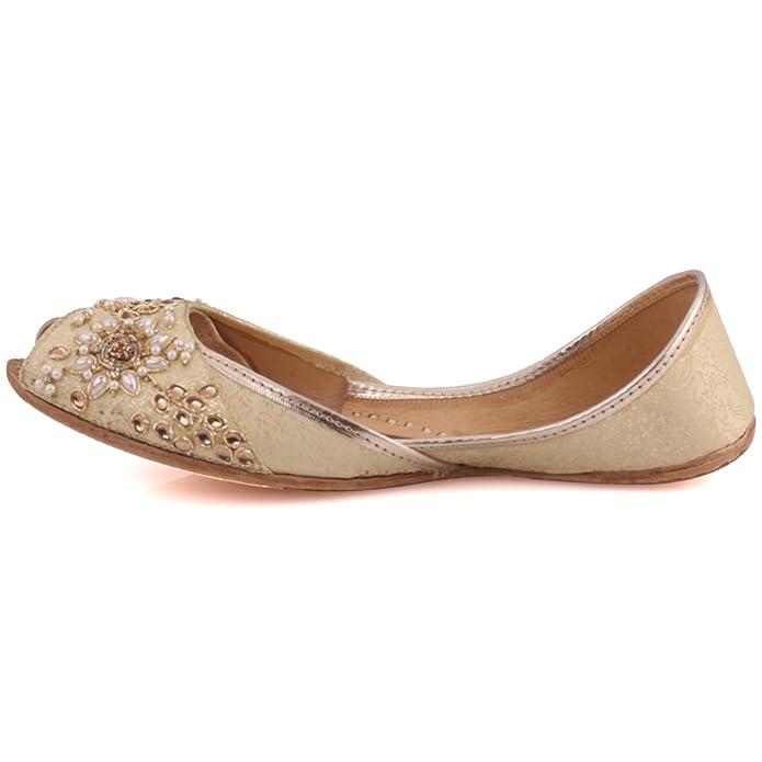 "Shoes Unze Women ""Iyana"" Leather Khussa Punjabi Jutti Indian"