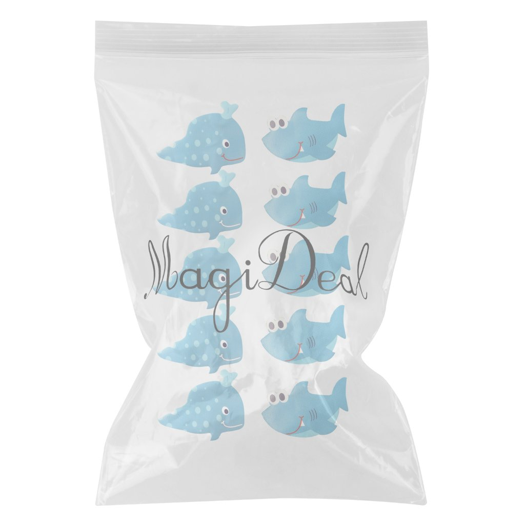 MagiDeal 10 Pieces Non Slip Bath Tub Stickers Bathroom Mat Shower Room Floor Grip