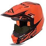 HMK Fly Racing F2 Carbon Dubstep Helmet , Distinct Name: Orange/Black, Gender: Mens/Unisex, Helmet Category: Snow, Helmet Type: Full-face Helmets, Primary Color: Orange, Size: 2XL 73-49102X