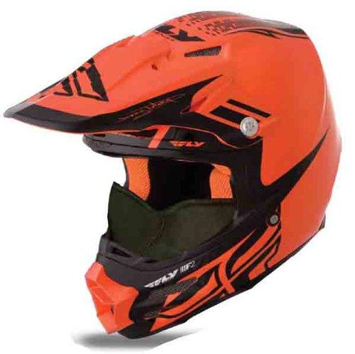HMK Fly Racing F2 Carbon Dubstep Helmet , Distinct Name: Orange/Black, Gender: Mens/Unisex, Helmet...