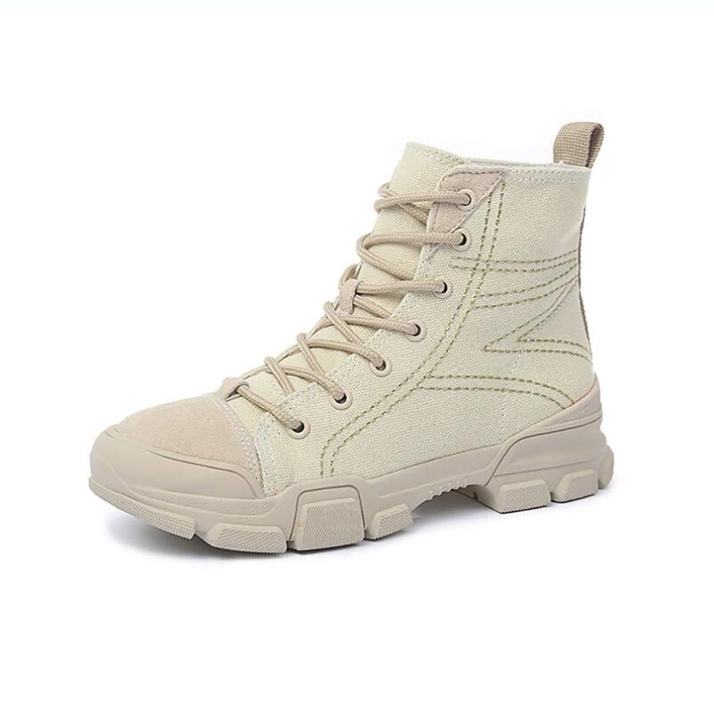 HY Scarpe da Donna in Pelle Plus Canvas Comfort Martins stivali Elegante Intensificare Stivaletti Stivaletti scarpe da ginnastica Stivali Moda High-Top,C,38