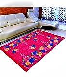 Warmland  Floral Velvet Carpet - 60'x84', Multicolour