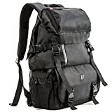 SLR Camera Backpack Evecase Outdoor Water Resistant MultiPurpose Daypack with Tablet Compartment and Padded Dividers for Nikon Canon Sony and Other Camera and Lens - Tripod - Other Accessories - Black