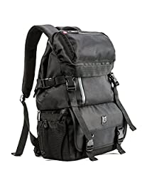 Evecase DSLR/SLR Camera / Lens Kit Travel Rugged Backpack - Black (Water Resistant)