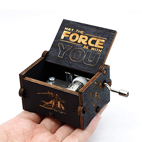 VDV Music Box - 2018 New Antique Carving Island Princess Music Box Star Wars Castle in Sky Rainbow -