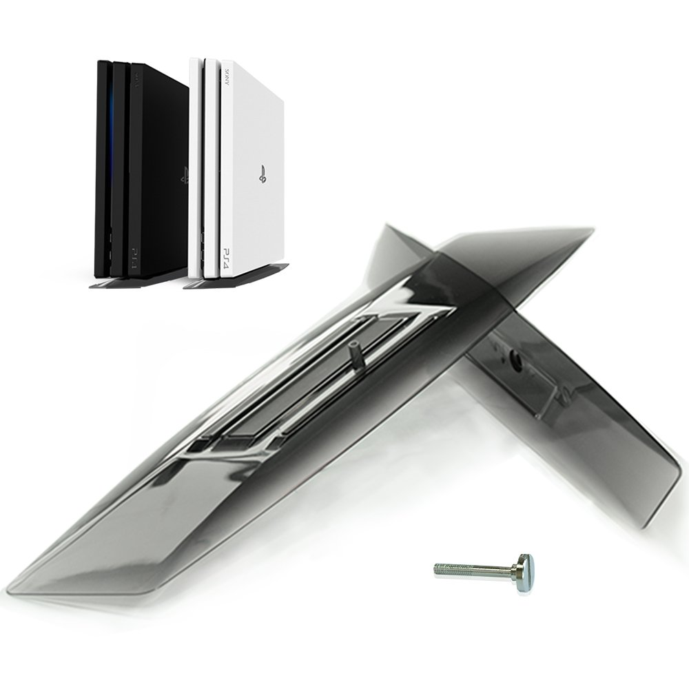 SMOS PS4 Pro Vertical Stand Perfectly Compatible with Playstation 4 Pro as Official, Easy Assemble, Made of Translucent Acrylic, Elegant Integration