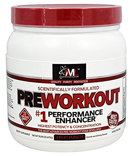 Advanced Molecular Labs Preworkout Fruit Punch 20 Servings 16.89 oz./479 g