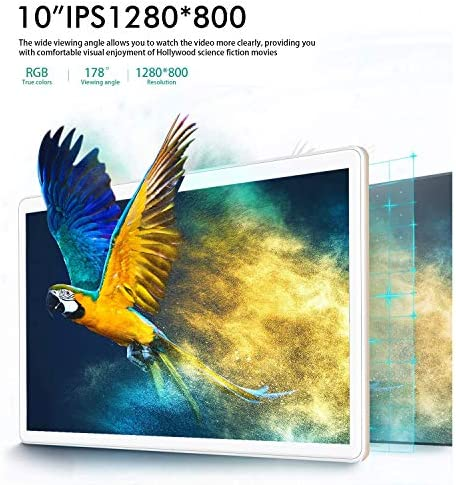 [2020 New] Tablets, 10.1 inch Tablet, Android 9.0 Pie Tablet, Quad-Core Processor, 3GB RAM 32GB ROM with 1280×800 IPS HD Display, Dual SIM 4G, 8MP Rear Camera, Bluetooth 5.0, WiFi, GPS- (Gold) 5188lULJDNL