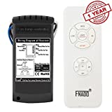 Fnado Universal Ceiling Fan Lamp Remote Controller Kit & Timing Wireless Remote Control for Ceiling Fan , Scope of Application Home/office/ hotel /the club / display hall /restaurant - White