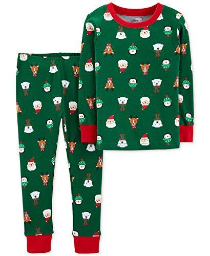 Carters Toddler Boys Holiday Christmas Pajamas 2 pc Cotton Snug Fit (3T), -