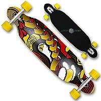 Longboard Skateboard en bois ABEC139couches Deck à double plateau, en bois d'érable