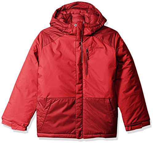 Columbia Boys' Little Lightning Lift Jacket, Mountain Red, Beet, XX-Small