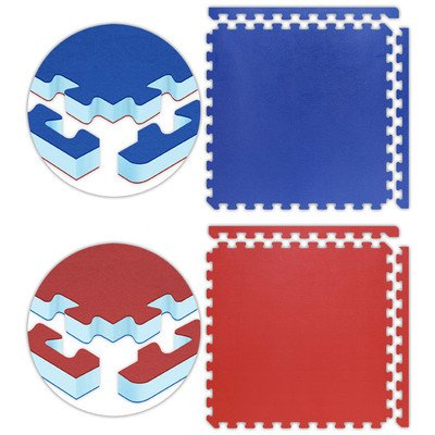 Jumbo Reversible SoftFloors Set in Red / Royal Blue Size: 16′ x 16′