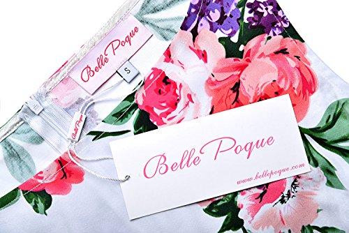 Vestito Del multicolore Bp02 Poque Retro Vestito Altalena Floreali Partito 6 Belle 1950 Floreale Da Cocktail pIavqaf