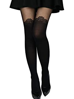 7bc40f1df Sexy Cute Fashion Mock Thigh High Over Knee Sheer Pantyhose Stockings Tights