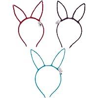 Amosfun 6Pcs Flashing Rabbit Ear Headband Party Light Up Bunny Ear Headband