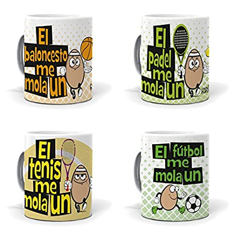 mundohuevo Taza El Padel me Mola un Huevo: Amazon.es: Hogar