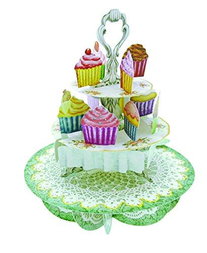 Santoro Pirouettes 3D Pop Up Card, Cupcake Tea -