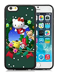 linJUN FENGFeatured Desin iPhone 6 Case,Christmas Cat Black iPhone 6 4.7 Inch TPU Case 21