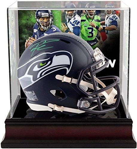 Russell Wilson Seattle Seahawks Autographed Riddell Speed Mini Helmet with Deluxe Mini Helmet Case - Fanatics Authentic ()