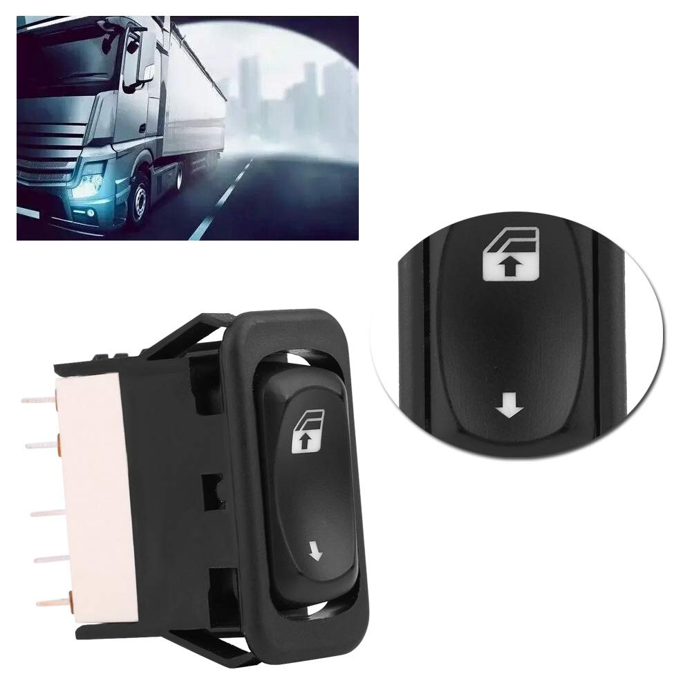 Suuonee Power Window Switch Car Single Power Master Window Switch Button for Freightliner Columbia Century 01-11 A06-30769-027