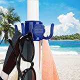 TAGVO 2 Pack Beach Umbrella Hanging Hook, 4-prongs